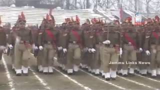 Braving chill, full dress rehearsal of RD held in Kashmir
