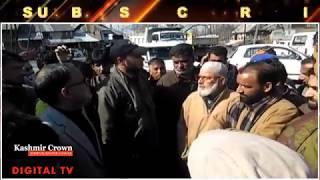Shopkeepers of Toolpost Lower Munda protest