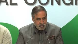 AICC Press Briefing by Anand Sharma at Congress HQ on RSS Chief Mohan Bhagwat's Army Remark