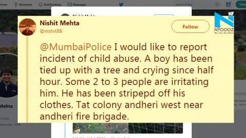 Mumbai cops rescue 8-Year-Old boy tied naked to tree