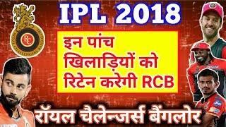 IPL 2018: RCB want to retain 2 players and 3RTM for auction 2018 Kohli and AB Devilliers will retain