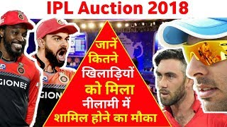 IPL Auction 2018: full players list and teams report RCB MI CSK RR DD KKR SRH KXIP