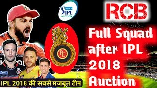 IPL 2018: RCB Royal Challengers Banglore full Players list & Squad after IPL Auction-Kohli, ABD