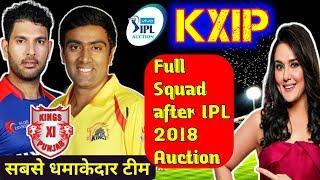 KXIP Kings XI Punjab full Squad and 21 men Players list for IPL 2018, Yuvraj Ashwin KL Rahul Gayle