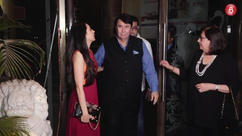 Kareena Kapoor, Karishma Kapoor, Rishi Kapoor Spotted At Randhir Kapoor's Birthday Party