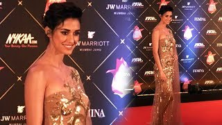 Beautiful Disha Patani At Red Carpet Of Nykaa Femina Beauty Awards 2018