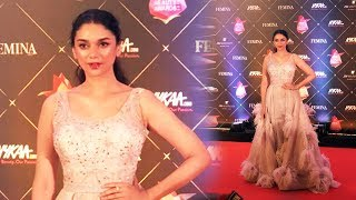 Aditi Rao Hydari At Red Carpet Of Nykaa Femina Beauty Awards 2018