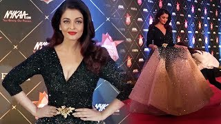 Stunning Beauty Aishwarya Rai Bachchan At Nykaa FEMINA Beauty Awards 2018
