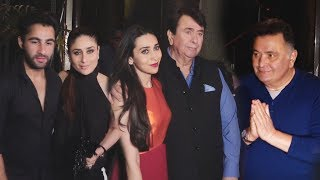 Randhir Kapoor Full Birthday Party With Family | Kareena Kapoor, Karisma, Rishi Kapoor