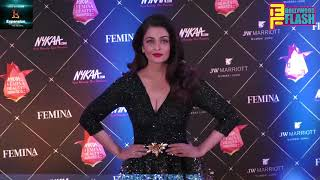 Beauty Queen Aishwarya Rai Bachchan At Red Carpet Of Nykaa Femina Beauty Awards 2018