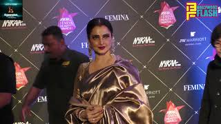Beautiful Rekha At Redcarpet Of Nykaa Femina Beauty Awards 2018