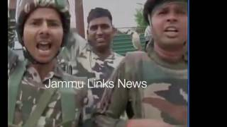 CRPF jawans raise 'Bharat Mata Ki Jai' slogans after killing millitants