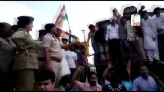 Rail Roko Andolan by youth congress in Jammu