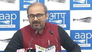 AAP RS member ND Gupta & Aap Leader Dilip Pandey briefs Media on PNB Scam