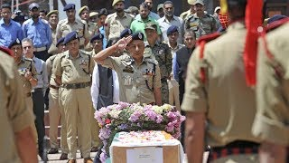 Nowhatta attack: Wreath laying ceremony of DSP Mohammed held with full honor