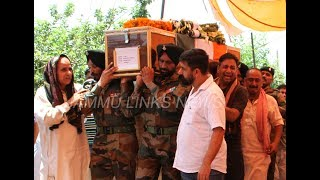 Thousands bid tearful farewell to martyred soldier in Jammu