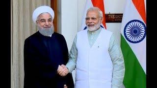 भारत दौरे पर आए ईरानी राष्ट्रपति रूहानी ने PM मोदी से की मुलाकात