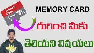 Everything you need to know about SD card or memory Card Telugu Tech Tuts