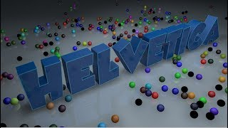 Sweep Spline Text Extrude Effect and Emitter using Dynamics in Cinema 4D Tutorial