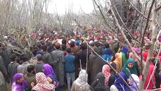 Anguish As Hundreds Throng Slain Soldier's Funeral In South Kashmir