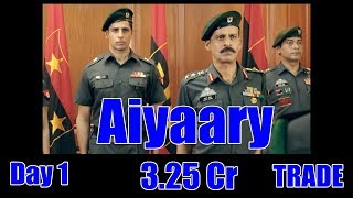Aiyaary Box Office Collection Day 1 Trade