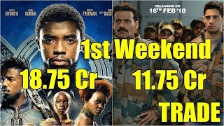 Aiyaary Vs Black Panther First Weekend Collection