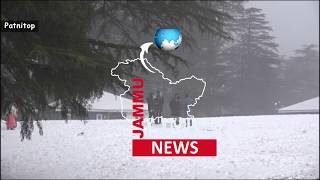 Patnitop Experiences Its First Snowfall Of The Season, Tourists Overjoyed