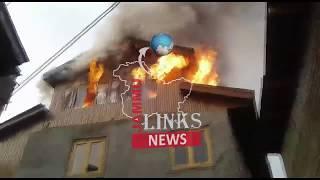 Fire damages seven houses in Kashmir