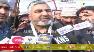J&K Govt employees protest in Srinagar