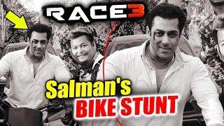 RACE 3 - Salman Khan's FIRST ACTION LOOK | BIKE Stunt In Bangkok, Thailand