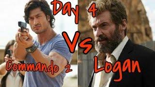 Commando 2 Vs Logan Box Office Collection Day 4
