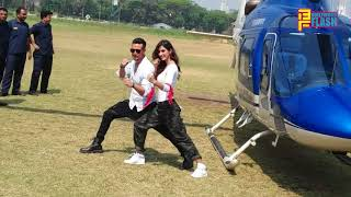 Tiger Shroff & Disha Patani GRAND ENTRY By Halicopter - Baaghi 2