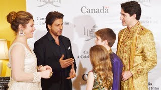 Shahrukh Khan MEETS Canadian PM Justin Trudeau And His Family