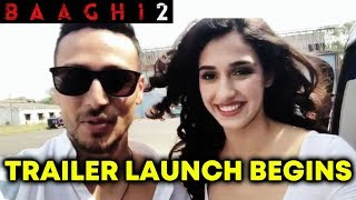 Baaghi 2 Trailer Launch | Tiger Shroff, Disha Patani On HELICOPTER RIDE