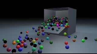 Falling Shaded Balls while Unfolding Box using Dynamics in Cinema 4D Tutorial