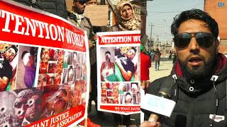 Pellet victims stage protest in Srinagar, appeal for help