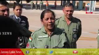 Minister Nirmala Sitharaman flies in IAF's Sukhoi jet