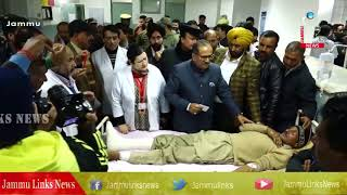 Dy CM visits border firing victims at GMC Jammu