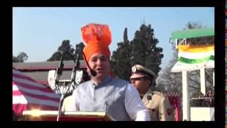 Sunil Sharma unfurls national flag at Poonch