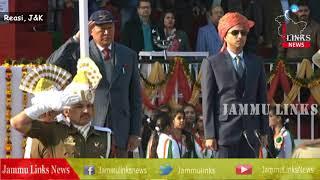 Chering Dorjay hoists national flag at Reasi