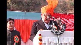 Sham Lal hoists National Flag at Ramban
