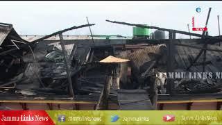 Fire damages houseboat in Srinagar