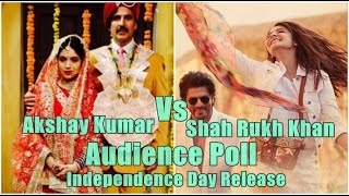 Akshay Kumar Vs Shah Rukh Khan Audience Poll On