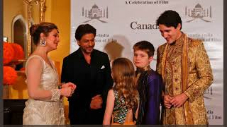 SRK Met With Canada Prime Minister JustinTrudeau To Celebrate Indian Canada Films