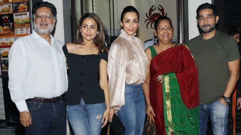 Malaika Arora And Amrita Arora Spotted With Their Parents For Dinner