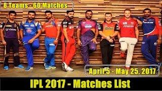 IPL 2017 Schedule