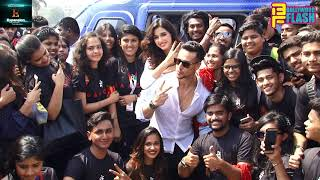 Tiger Shroff & Disha Patani Mobbed In Fans - Baaghi 2 Trailer Launch