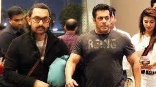 Salman Khan And Aamir Khan Together At Mumbai Airport | Who Looks Dashing?