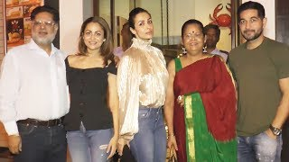 Malaika Arora And Amrita With Family Spotted At Restaurant