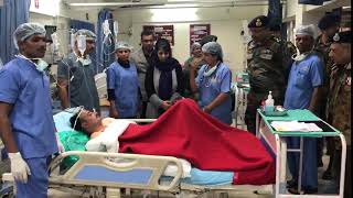 Mehbooba Mufti visits Army Hospital